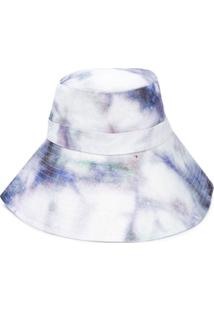 Isabel Marant Chapéu Bucket Tie-Dye - Branco