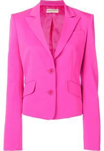 Emilio Pucci Blazer Cropped Com Abotoamento Simples - Rosa