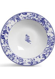 Conjunto De Pratos Cerâmica Fundos Blue Garden 6Pcs Cj1