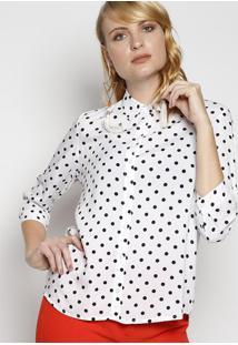 Camisa De Poã¡- Branca & Preta- Intensintens