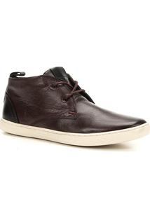 Sapatênis Couro Shoestock Cano Curto Masculino - Masculino-Café
