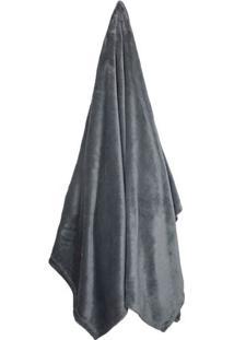 Cobertor Velour Queen Size- Chumbo- 220X240Cm- 3Camesa