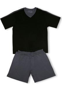 Conj. Pijama Modal Curto - Masculino