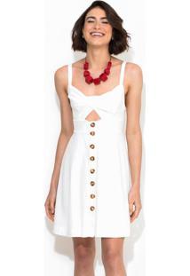 Vestido Curto Off White