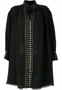 Andrea Bogosian Vestido Curto Saugor Couture - Preto