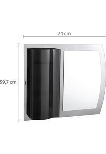 Espelheira Para Banheiro Onix Astra Pietra 2 Prateleiras Fumê
