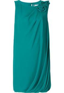 Lanvin Vestido De Seda Com Aplicações - Verde