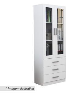 Armário Para Escritório Office Plus Com Portas & Gavetasappunto Móveis