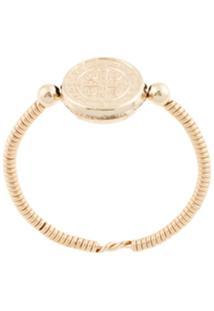 Petite Grand Anel Maya Bay Banhado A Ouro 14K - Dourado