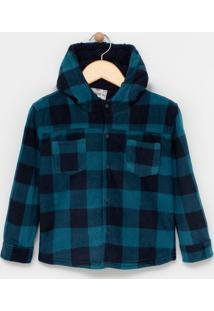 Camisa Infantil Em Fleece Xadrez - Tam 1 A 4 Anos