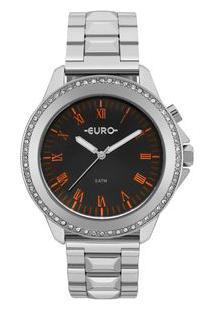 Relógio Euro Feminino Neon Lights Prata