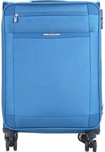Mala Samsonite Shield Rodinhas Média - Masculino-Azul