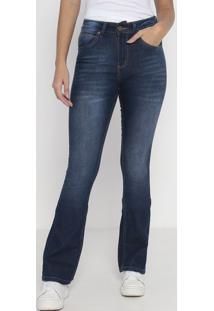 Jeans Flare Western Estonado - Azul Escurowrangler
