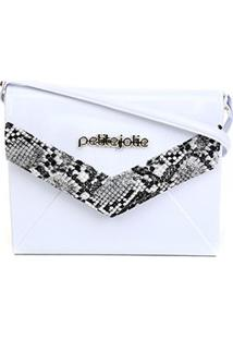 Bolsa Petite Jolie J-Lastic New Snake Feminina - Feminino-Branco