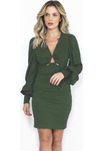 Vestido Curto Verde Esmeralda