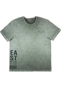 Camiseta Masculina Hering Com Efeito Estonado