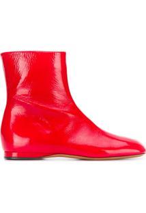 Marni Ankle Boot Flat - Vermelho