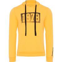 f0aa92d1ce Casaco Masculino Capuz Estampa Vintage 1978 - Amarelo