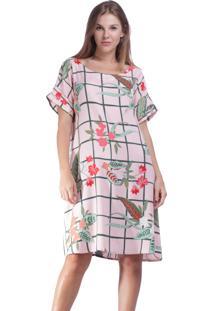 Vestido Curto Amazonia Vital Quadrado Garden Flowers