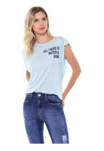 Camiseta Studio 21 Fashion Basic Babados Feminina - Feminino-Verde