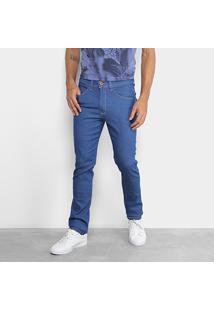Calça Jeans Skinny Fatal Clássica Masculina - Masculino-Azul