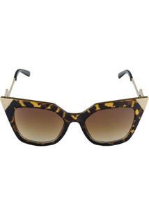 Óculos De Sol Khatto Cat Great - C104 Feminino - Feminino-Marrom