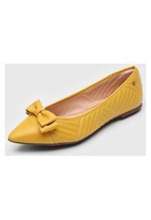 Sapatilha Dumond Laço Amarela