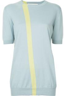 Marni Blusa De Tricô Com Lista - Azul