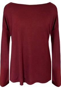 Blusa Genebra Tea Shirt Bordo