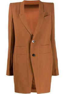 Rick Owens Structured Shoulder Jacket - Marrom