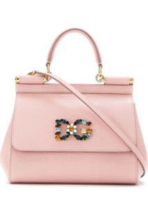 Dolce & Gabbana Bolsa Tiracolo 'Sicily' Pequena - Rosa