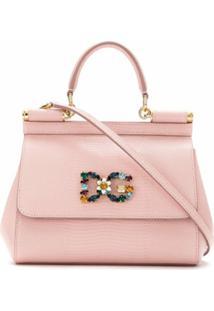 Dolce & Gabbana Bolsa Tote Sicily Mini - Rosa