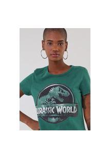 Camiseta Malwee Jurassic World Verde