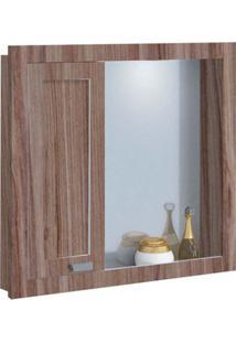 Espelheira De Mdf Argos 63X11,5X58,5Cm Noce E Branco Gaam