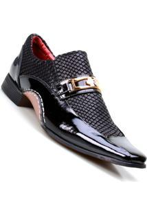 Sapato Social Masculino Calvest Super Confortável - Masculino-Preto