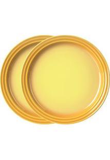 Jogo 2 Pratos Redondo 15Cm Amarelo Soleil Le Creuset
