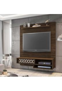 """Painel Home Suspenso Para Tv Até 50"""""""" Osaka Cedro - Móveis Leão"""
