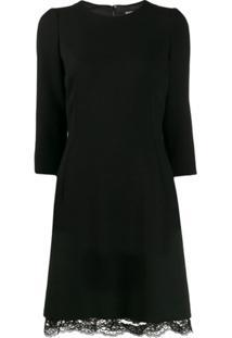 Dolce & Gabbana Vestido Com Acabamento Em Renda - Preto