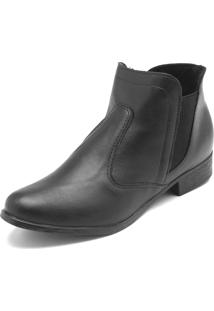 Bota Chelsea Dafiti Shoes Lisa Preta