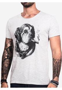 Camiseta Hermoso Compadre Gentledog Masculina - Masculino-Cinza