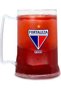 Caneca Fortaleza Sporting Club Personalizada Vermelha Acrílica Gel Congelável Escudo Tricolor