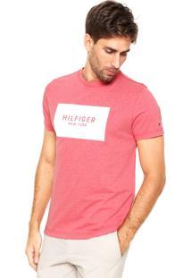 Camiseta Tommy Hilfiger Block Grap Vermelha