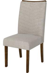 Cadeira Serena 2 Peças - Rústico Malbec Com Pena Bege