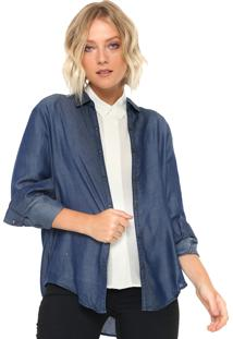Camisa Jeans Mng Barcelona Simple Azul