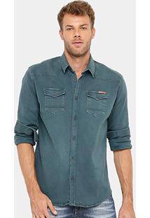 Camisa Sarja Colcci Slim Masculina - Masculino