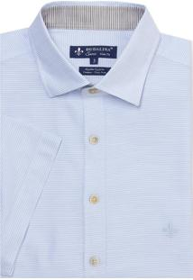 Camisa Dudalina Manga Curta Fio Tinto Ii Listrada Masculina (Listrado 2, 2)