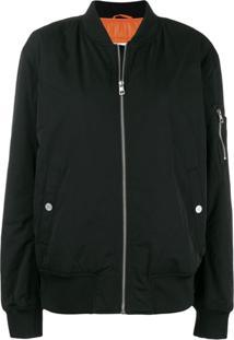 Calvin Klein Jeans Jaqueta Bomber Com Zíper - 099 Black