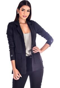 Blazer Sisal Jeans Neopreme Total Black