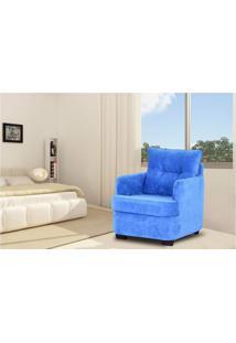 Poltrona Estofada 1 Lugar Brenda Matrix Azul