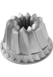 Forma Para Bolo Kugelhopf Bundt Nordic Ware Em Alumínio Fundido - Prata